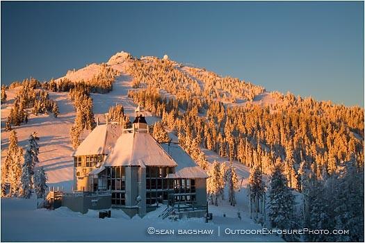 Mt. Ashland Sunrise Stock Image, Mt. Ashland