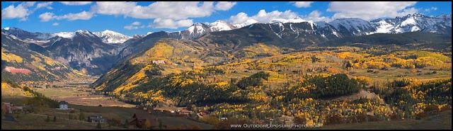 Telluride Colorado Panorama Stock Image, Telluride, Colorado
