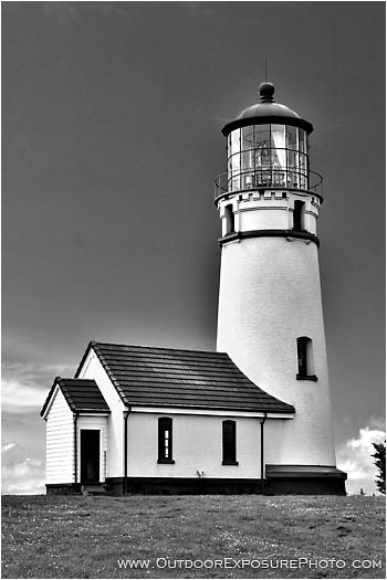 Cape Blanco Lighthouse Black and White Stock Image, Cape ...
