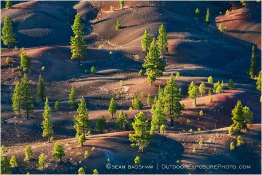 Painted Dunes 3 Stock Image Lassen Volcanic National Park, California