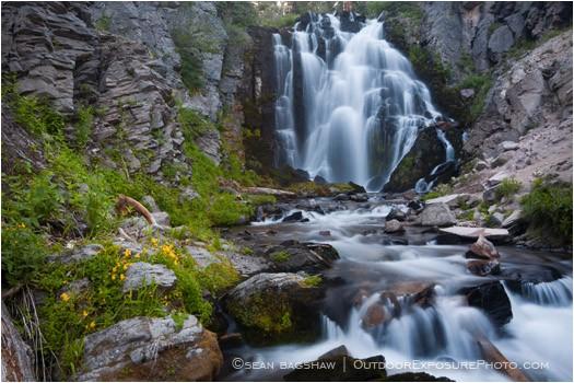 Kings Creek Falls 2 Stock Image Lassen Volcanic National Park, California