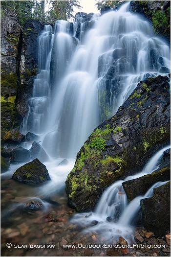 Kings Creek Falls 5 Stock Image Lassen Volcanic National Park, California