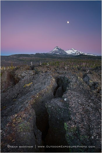 Volcanic Legacy Print, Three Sisters, Oregon