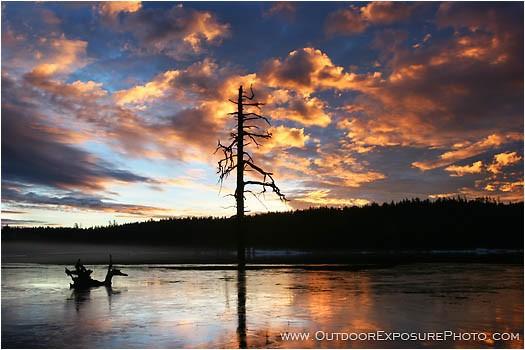 Hyatt Lake Sunrise II Stock Image, Ashland, Oregon