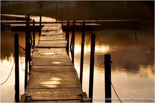 Golden Dock Stock Image Hyatt Lake, Ashland, Oregon