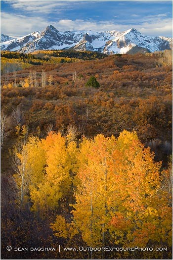 Sneffels Range in Fall Print, Southwestern, Colorado