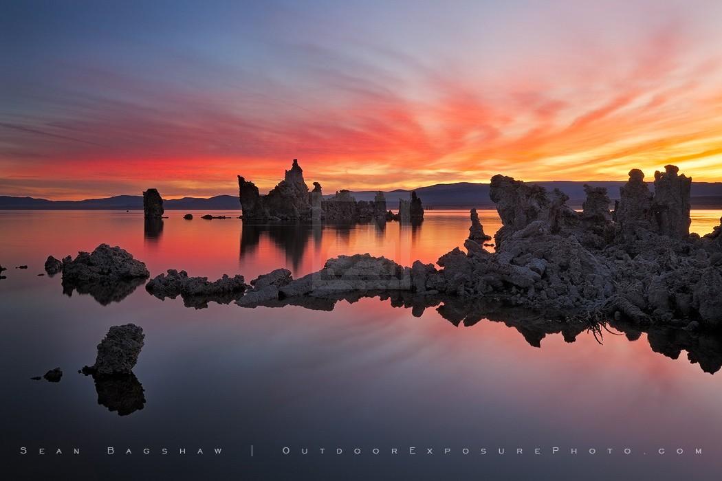Dawn Fire at Mono Lake Print, Mono Lake, California