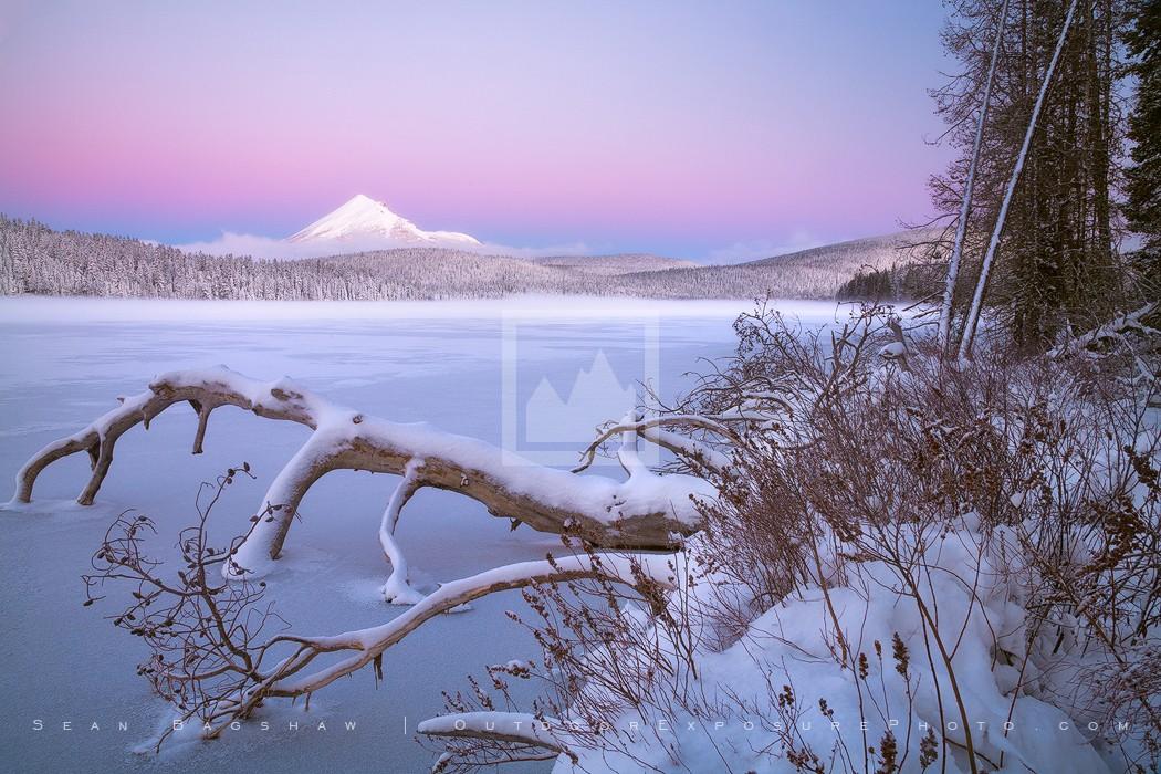 Mt. McLoughlin and Lake Of The Woods at Dawn Print, Ashland, Oregon