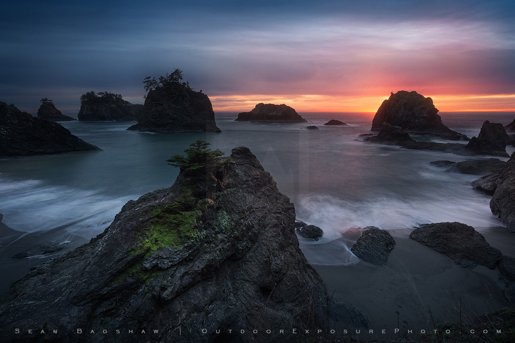 Nightfall, Samuel H Boardman Coast, Oregon