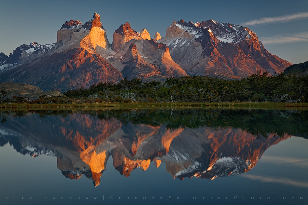 Rare Reflection, Torres del Paine National Park, Chile