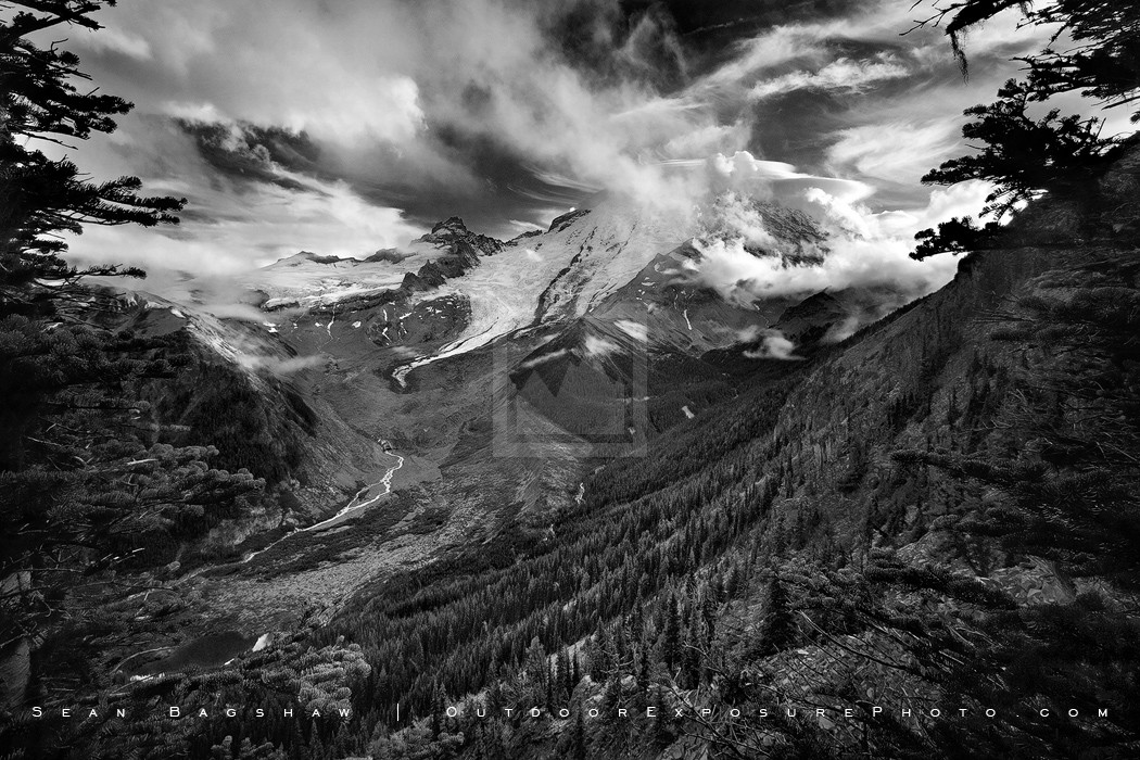 Storm Clearing Print, Mt. Rainier, Washington