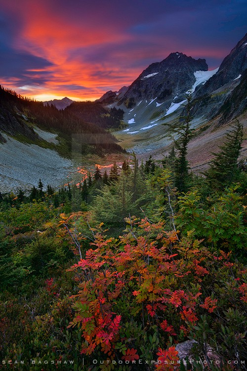 Unforgettable Fire Print, North Cascades NP, Washington