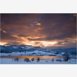 Snowbound Sunrise Stock Image, Oregon