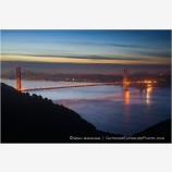 Golden Gate Dawn Stock Image, California