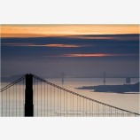 Two Bridges Stock Image, California