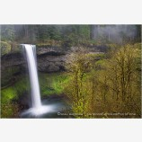 South Falls Stock Image, Oregon
