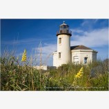 Coquille River Lighthouse 4 Stock Image, Bandon, Oregon