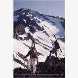 Climbing Mt. Shasta 1 Stock Image