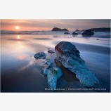 Ancient Sunset Stock Image, Face Rock State Park, Bandon, Oregon