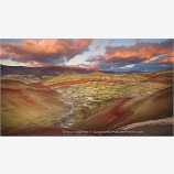 Earth Palette Print, John Day Fossil Beds National Park, Oregon
