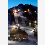 Mt. Ashland Night Skiing Stock Image,