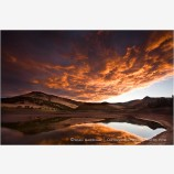 Sunrise Emigrant Lake 2 Stock Image,