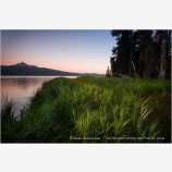 Diamond Lake and Mt. Thielsen Stock Image
