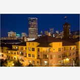 Portland at Night Stock Image,