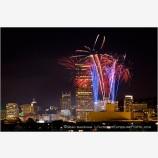 Portland Fireworks Stock Image,