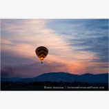 Hot Air Balloons and Sunrise Stock Image,