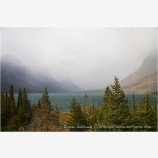 St. Mary Lake Stock Image,