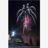 Bavarian Night Fireworks Stock Image