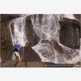 Waterfall Walk Stock Image California