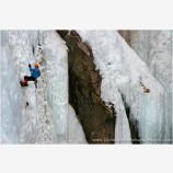 Rappelling On Ice Stock Image, Ouray, Colorado