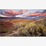 Painted Hills and Sage Stock Image, Central Oregon