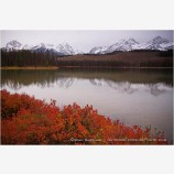 Sawtooth Range and Redfish Lake Stock Image,