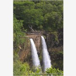 Wailua Falls Stock Image, East Kauai, Hawaii