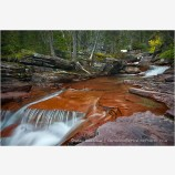 Red Stone Flow Stock Image, Glacier National Park, Montana