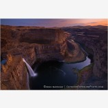 Twilight Falls Stock Image, Palouse River Canyon, Eastern Washington