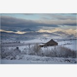 Winter Ranch Stock Image,