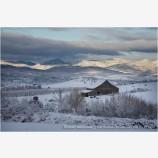 Winter Ranch Stock Image,