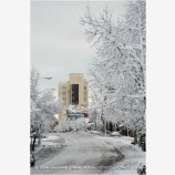 Ashland in Snow Stock Image, Ashland, Oregon