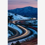 Winter Freeway Stock Image, Siskiyou Summit, California