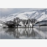 Emigrant Lake in Winter 1 Stock Image, Ashland, Oregon