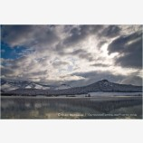 Emigrant Lake in Winter 2 Stock Image, Ashland, Oregon