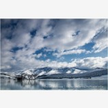 Emigrant Lake in Winter 3 Stock Image