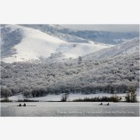 Emigrant Lake in Winter 4 Stock Image