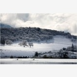 Emigrant Lake in Winter 6 Stock Image