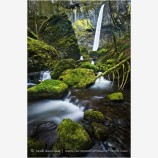Elowah Falls Stock Image, Columbia Gorge, Oregon