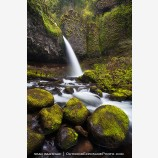Pony Tail Falls Stock Image, Columbia Gorge, Oregon